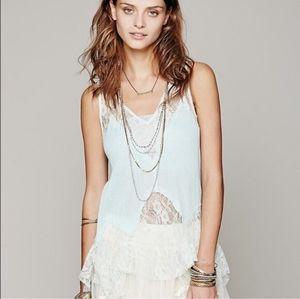 Free People intimately lace bell trapeze cami